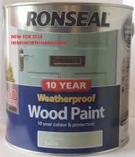 Ronseal 10 year Weatherproof Wood Paint 750ml 2.5l All Colours NO PRIMER 2 in 1